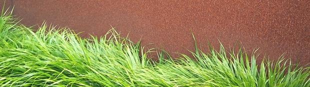 Materiale in gradina: Corten